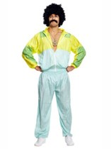 Men's Shell Suit Costume with Dollar Necklace