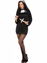 Adult Halloween Sexy Nun Fancy Dress Costume