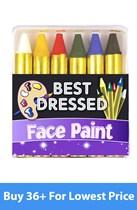 Mini Face Painting Sticks 6pce