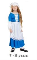 Children's Tudor Girl Fancy Dress Costume 7 - 9 yrs
