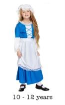 Children's Tudor Girl Fancy Dress Costume 10 - 12 yrs
