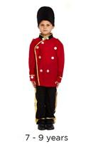 Child London Busby Guard Fancy Dress Costume 7 - 9 yrs