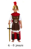 Child Roman General Fancy Dress Costume 4 - 6 yrs