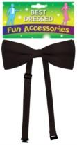 Black Bow Tie Fancy Dress Accessory