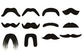 12 Black False Moustaches