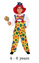 Children's Clown Fancy Dress Costume 4 - 6 yrs