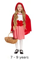 Children's Riding Hood Book Day Fancy Dress Costume 7 - 9 yrs