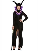 Adult Halloween Evil Queen Maleficent Fancy Dress Costume