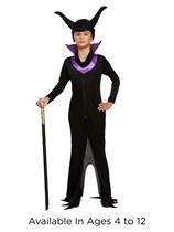Children's Maleficent Halloween Evil Queen Fancy Dress Costume