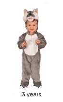 Child Wolf Fancy Dress Costume - Toddler
