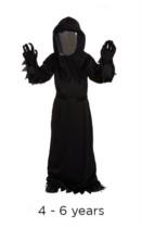 Children's Halloween Reaper Costume with Mirrored Mask 4 - 6 years