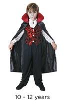 Child Halloween Deluxe Dracula Fancy Dress Costume 10 - 12 years