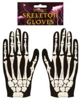 Halloween Fancy Dress Skeleton Gloves - Adult