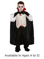 Classic Children's Halloween Vampire Fancy Dress Costume