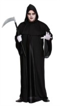 Adult Halloween Grim Reaper Fancy Dress Costume - X-Large