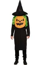 Adult Halloween Jumbo Pumpkin Fancy Dress Costume