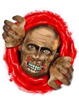 Halloween Zombie Toilet Decoration