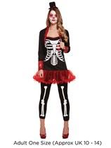 Adult Halloween Day of The Dead Fancy Dress Costume