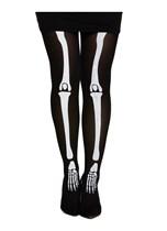 Skeleton Adult Bone Print Tights - One Size