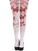 Adult Halloween Fancy Dress Blood Splatter Tights