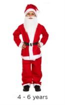 Child Christmas Santa Fancy Dress Costume 4 - 6 yrs
