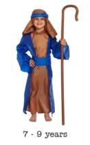 Child Shepherd Christmas Nativity Fancy Dress Costume 7 - 9 yrs