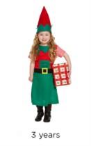 Christmas Santa's Little Helper Fancy Dress Costume - Toddler