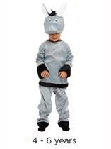 Child Donkey Christmas Nativity Fancy Dress Costume 4 - 6 yrs