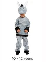 Child Donkey Christmas Nativity Fancy Dress Costume 10 - 12 yrs