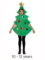 Child Christmas Tree Fancy Dress Costume 10 - 12 yrs
