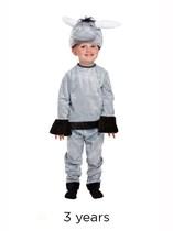 Child Donkey Christmas Nativity Fancy Dress Costume - Toddler