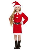Girls Santa Father Christmas Costume Age 10 - 12