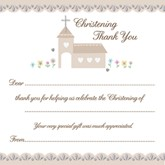 Embossed Christening Thank You Cards & Envelopes 10pk