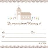 Embossed Christening Invitations and Envelopes 10pk