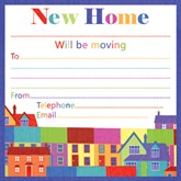 Colourful New Home Cards with Envelopes 10pk