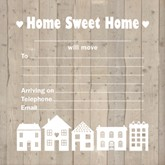 Home Sweet Home New Address Cards with Envelopes 10pk
