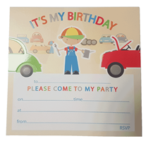 Car Mechanic Party Invitations & Envelopes 10pk