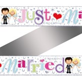 Just Married Foil Banner