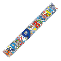 9th Birthday Stars Holographic Foil Banner