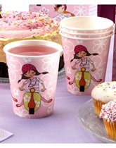 Scooter Girls Paper Cups 8pk