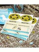 Wild West Cowboys Name Stickers 16pk