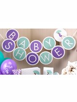 Showered with Love Baby Shower Bunting