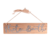 Wood Effect Photo Booth Sign With Cord