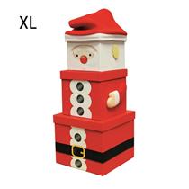 Santa Claus Christmas XL Plush Gift Box 3pce