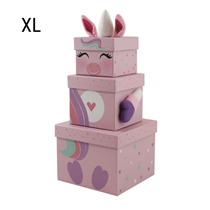 Unicorn Christmas XL Plush Gift Box 3pce