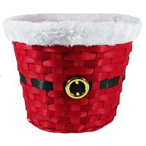 Christmas Red Santa Wicker Basket
