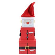 Christmas Santa XL Plush Stacker Gift Boxes 3pce