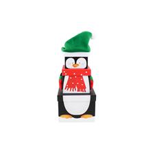 Christmas Penguin Plush Stacker Gift Boxes 3pce