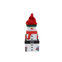 Christmas Snowman Plush Stacker Gift Boxes 3pce