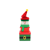 Christmas Elf Plush Stacker Gift Boxes 3pce
